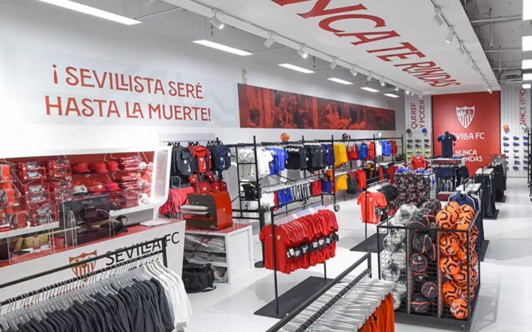 La nueva tienda del Sevilla FC cuenta con el grupo Camaleón Led Digital Lighting para la instalación de toda la iluminación